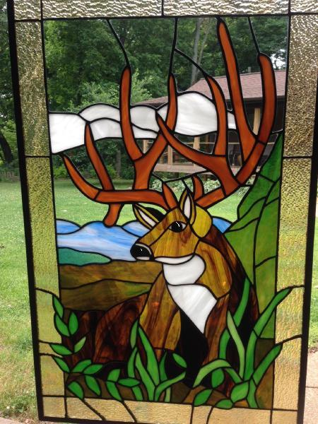 Harley Davidson Red Deer >> Custom stained glass windows, stained glass gallery - New ...
