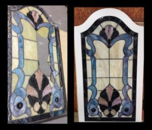 repaired stained glass